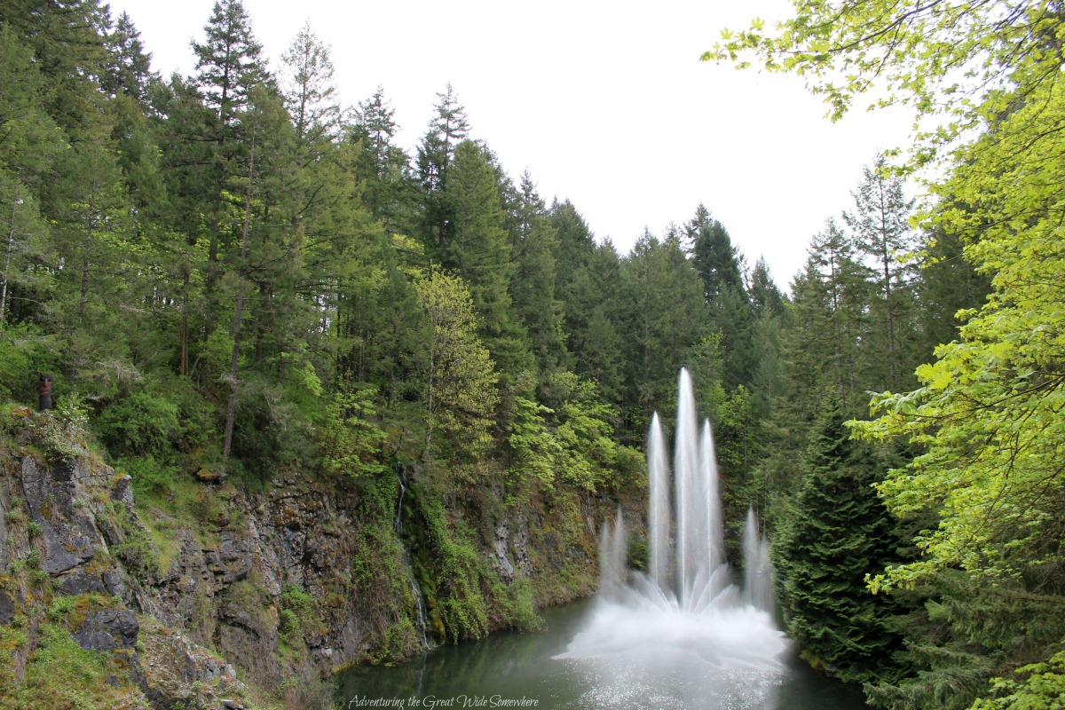 Dancing Water Show at Butchart Gardens