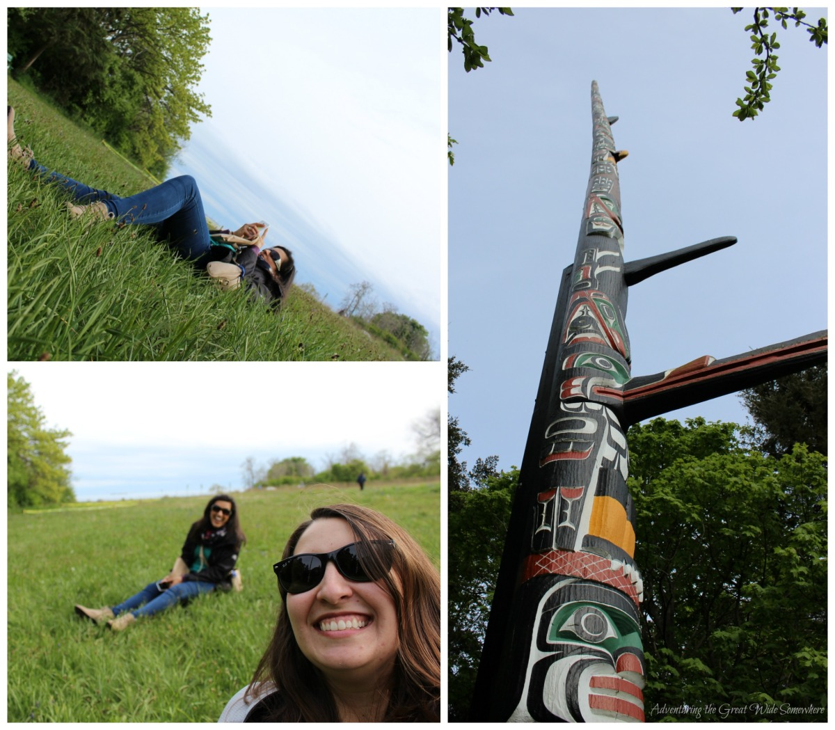Lying Down Flat Trying to Capture the World's Tallest Totem Pole