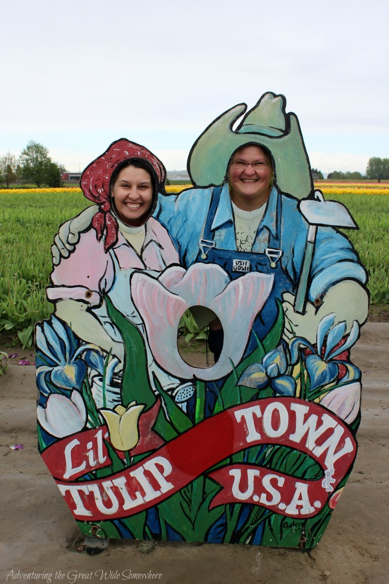 Mom and I at Tulip Town, the Skagit Valley Tulip Festival