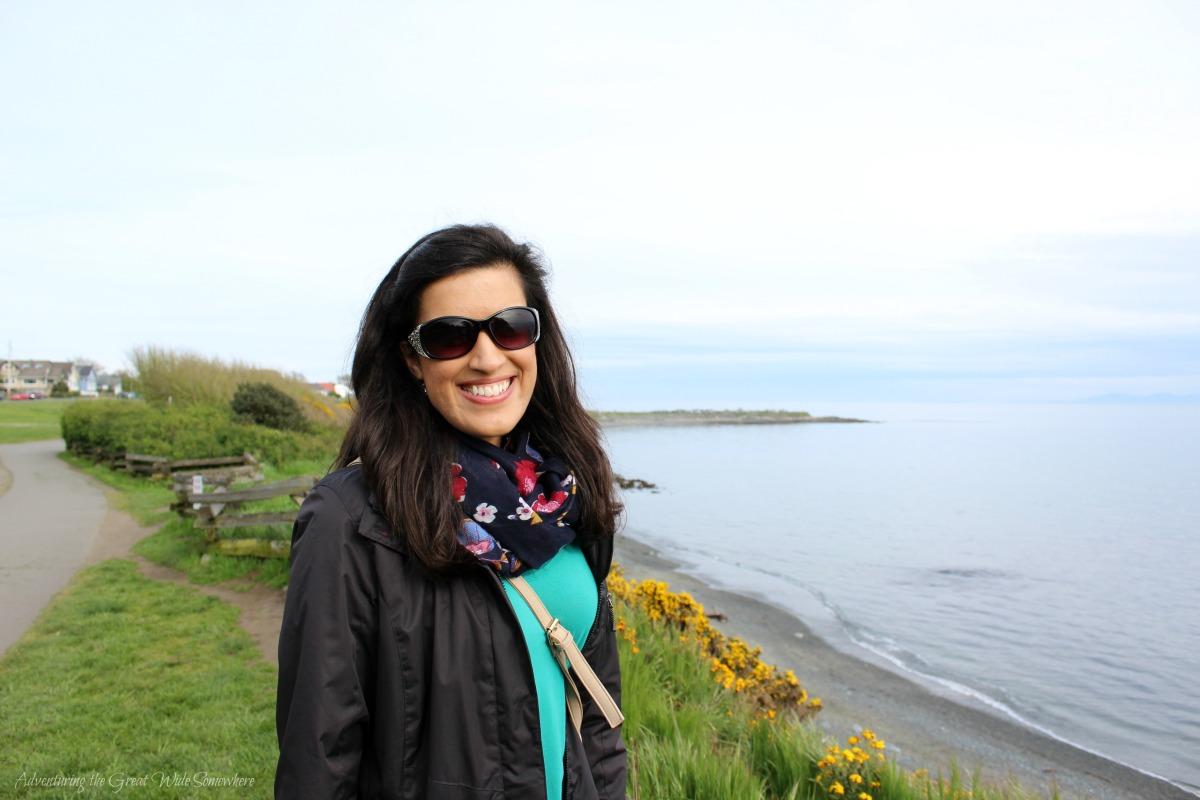 Nadya at the Gorgeous Irish Beach in Canada