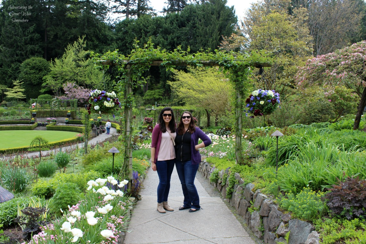 Old Friends at Victoria's Butchart Gardens in Spring