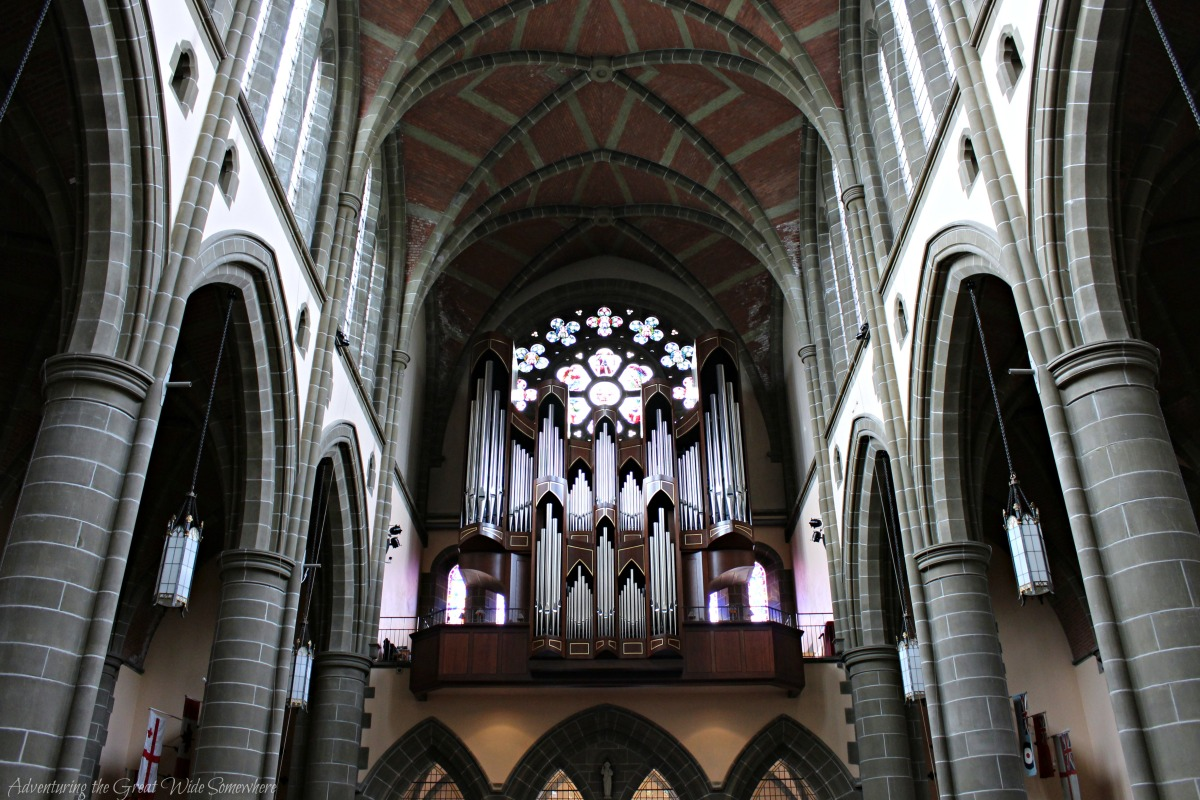 Organ and Interior of Victoria's Christ Church Cathedral
