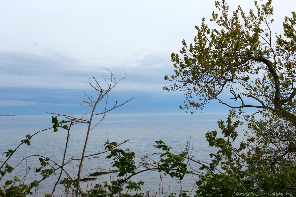 Overlooking the Strait of Juan de Fuca in Victoria, B.C.