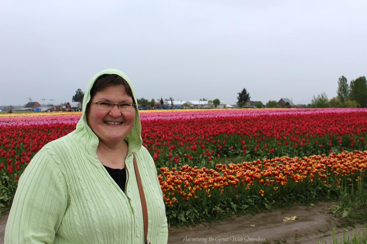 Pretty Mom at the Skagit Valley Tulip Festival