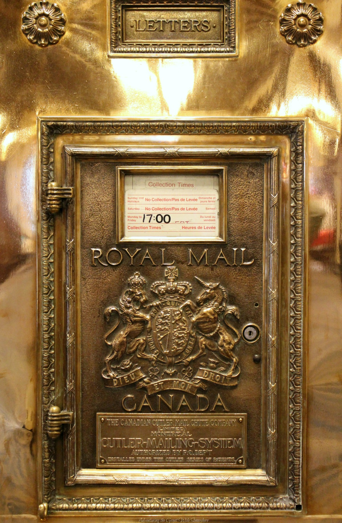 Royal Mail Collection Box at the Fairmont Empress Hotel, Victoria B.C.