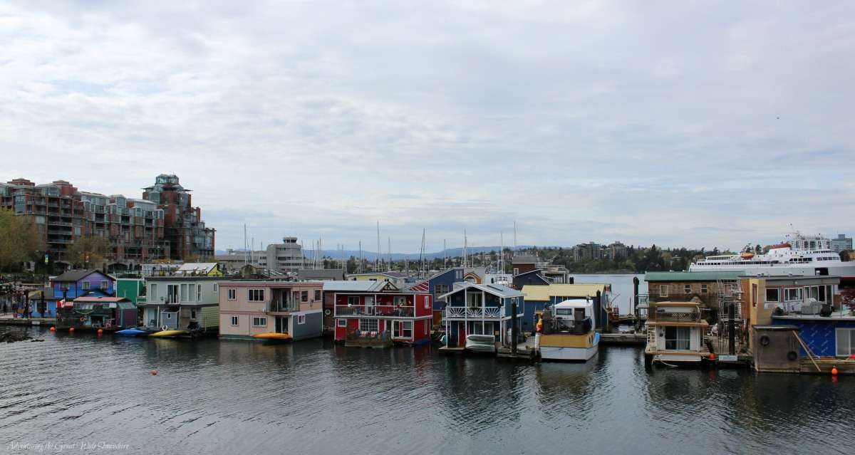 The Float Home Village in Victoria's Fisherman's Wharf