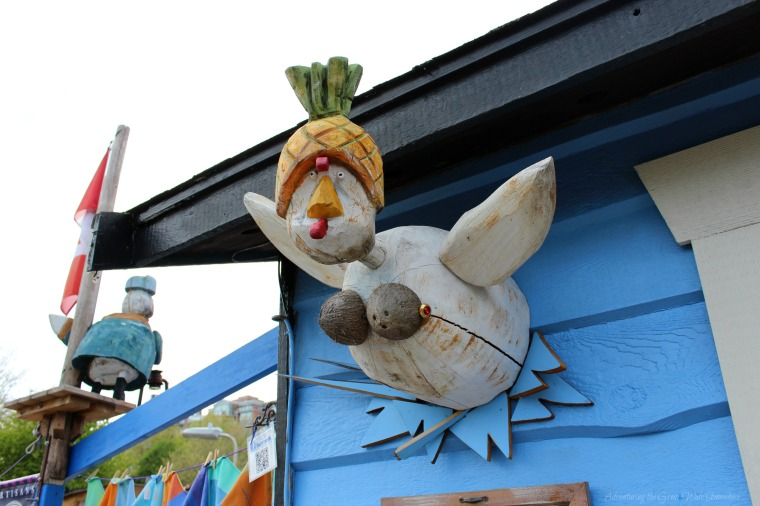 The Four Winds are Represented By Silly Birds at the 4 Wish Nest Artisan's Boutique in Victoria's Float Home Village
