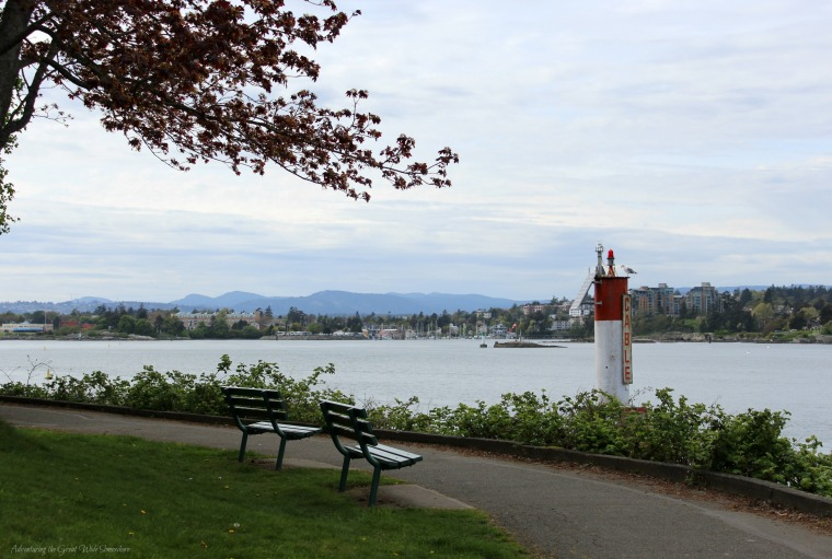 Walking Along the Waterfront at Victoria Harbor, British Columbia