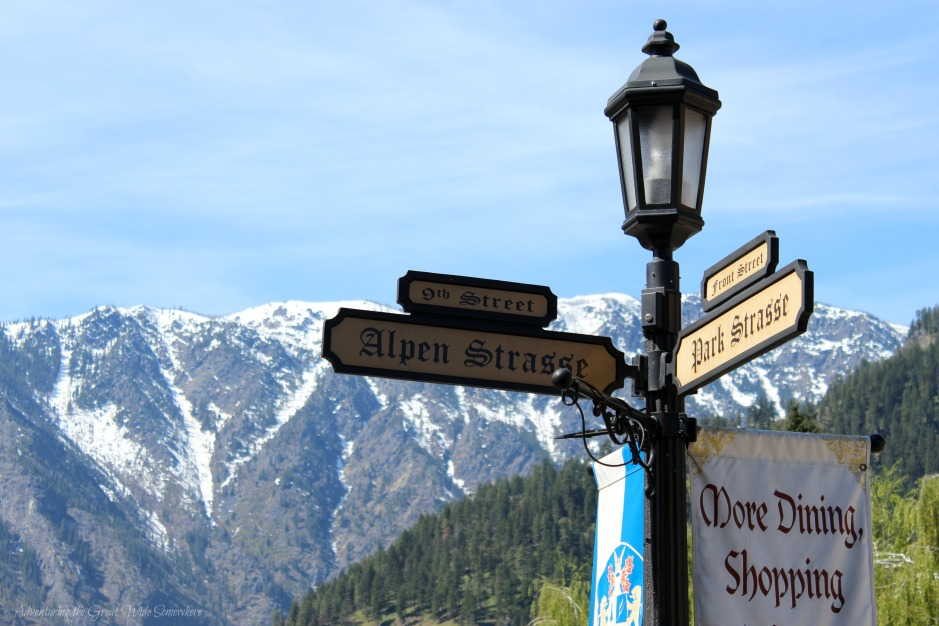 Alpen Strasse and Park Strasse in Leavenworth, Washington's Little Bavaria