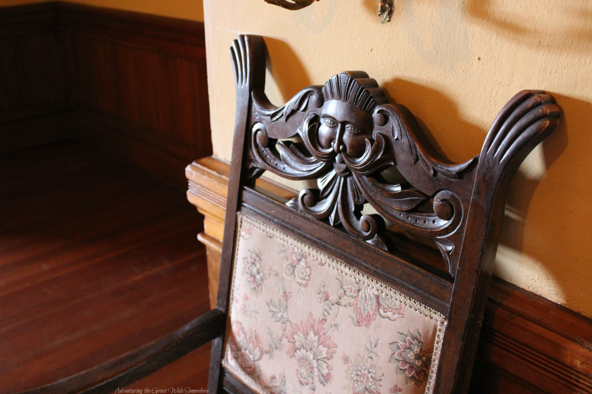 An Elaborate Carved Sitting Chair Found in Craigdarroch Castle