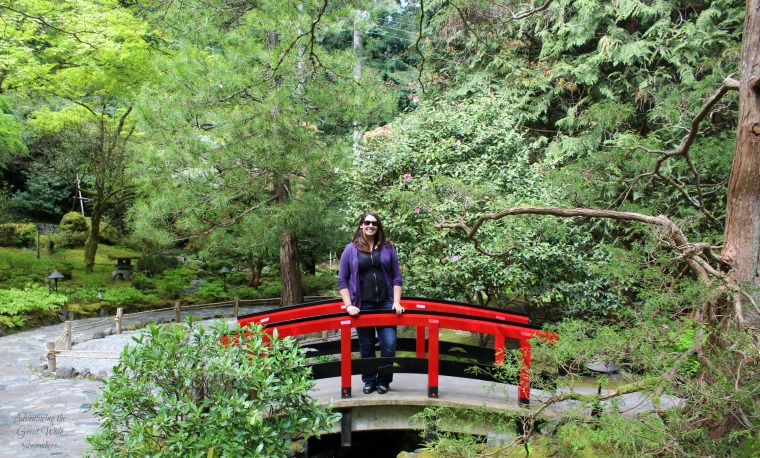 Beth at the Japanese Garden in the Butchart Gardens