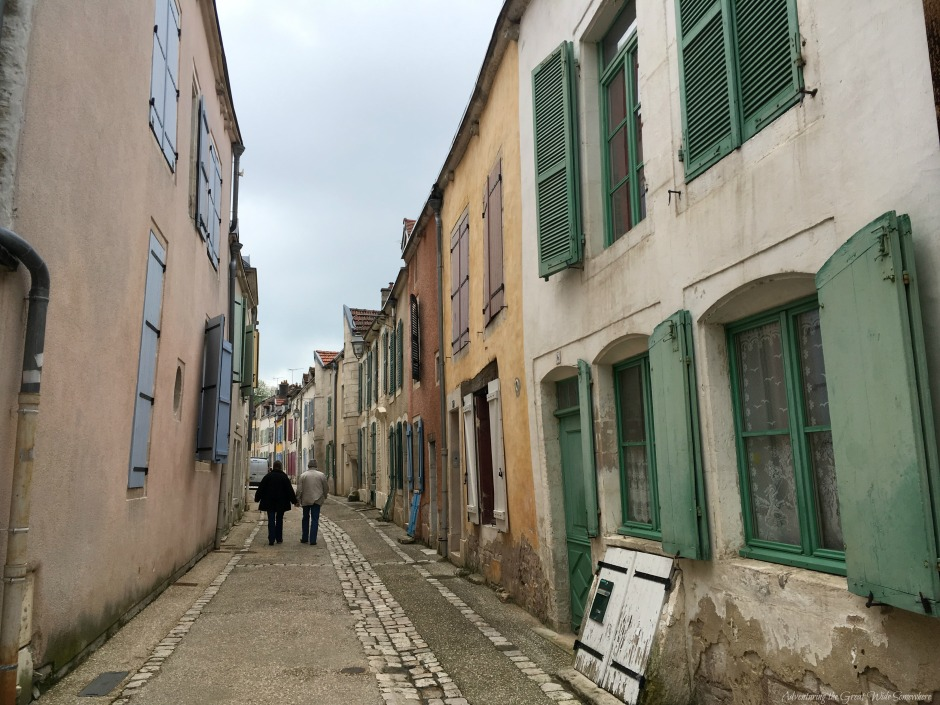 Colorful Shutters Decorate this Charming French Alleyway in Chaumont, France
