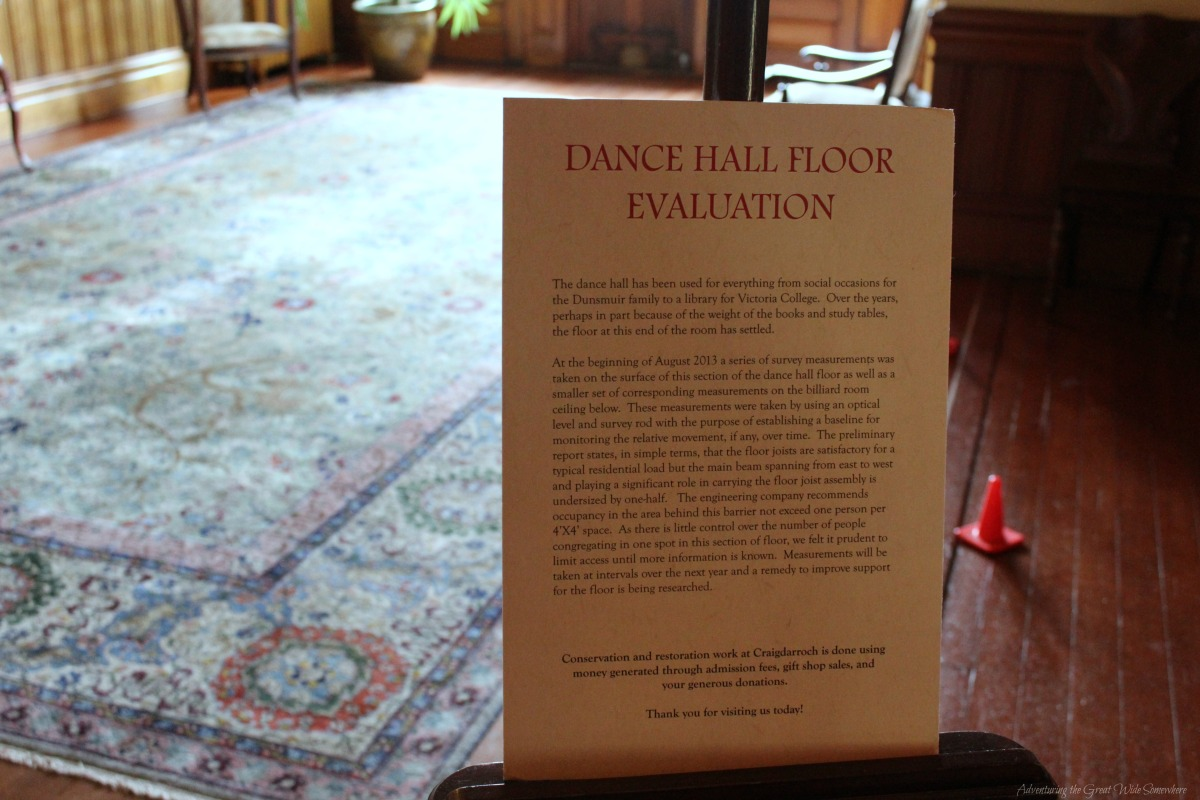 Craigdarroch Castle Dance Floor Evaluation