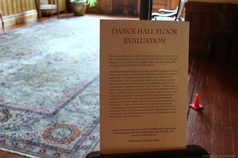 Craigdarroch Castle Dance Floor Evaluation