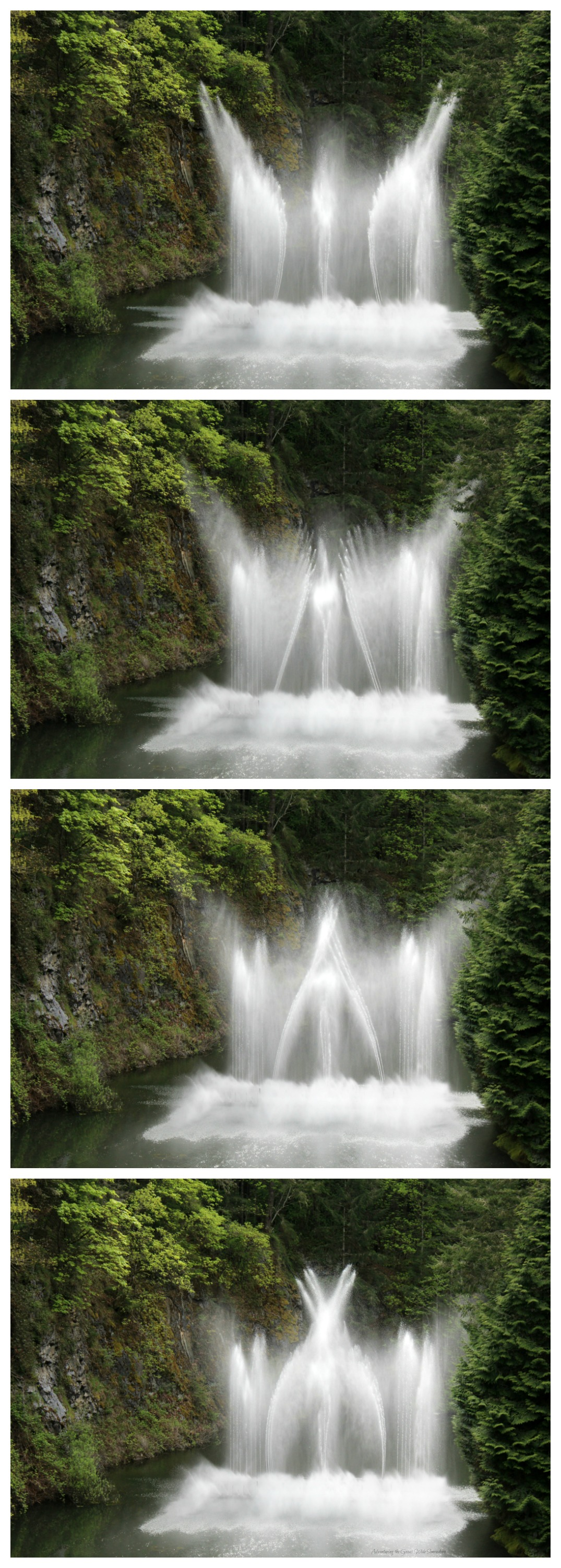 Dancing Fountains at Canada's Butchart Gardens