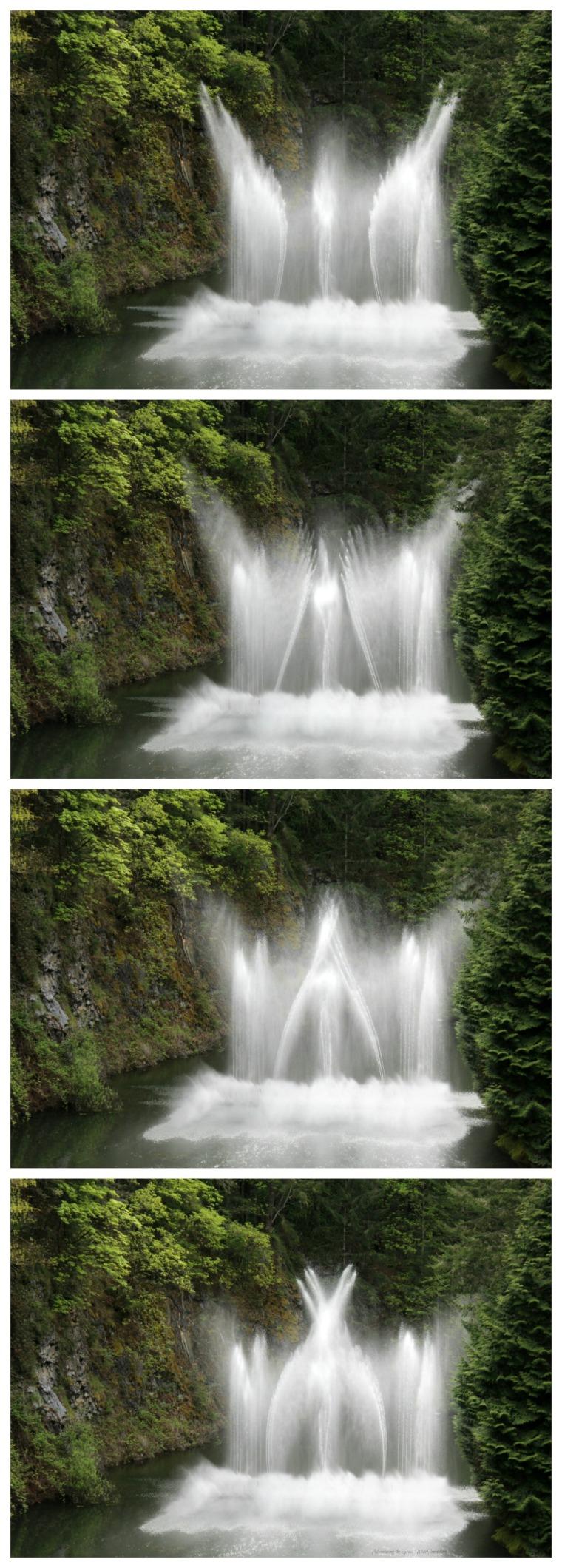 Dancing Fountains at Canada's Butchart Gardens