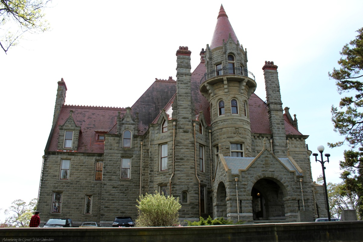 First Glimpse of Craigdarroch Castle in Canada