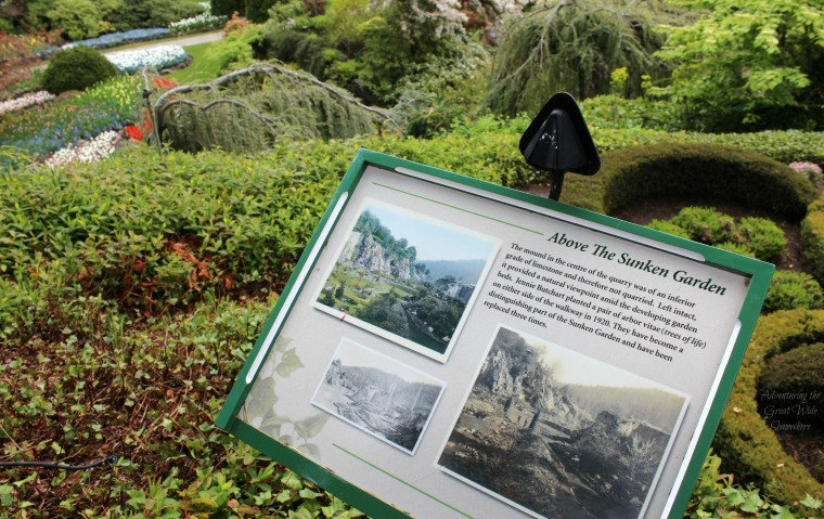 Informational Sign about the Viewpoint in the Butchart Gardens Sunken Garden