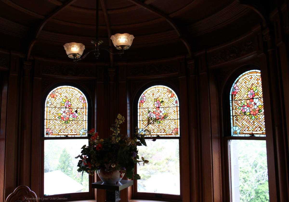 One of Many Beautiful Entertaining Nooks at Craigdarroch Castle, Located in Victoria, B.C.