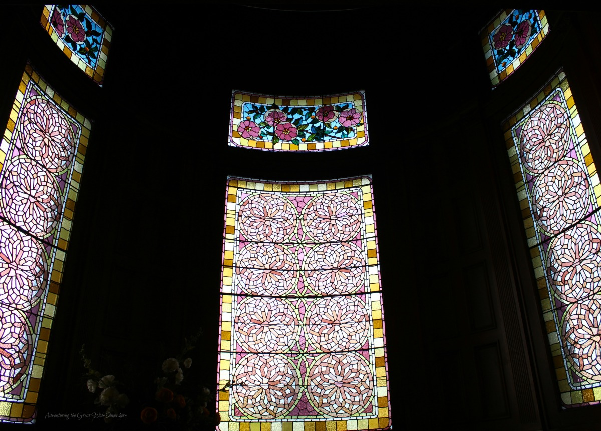 Rose Stained Glass Windows on the Landing of Craigdarroch Castle
