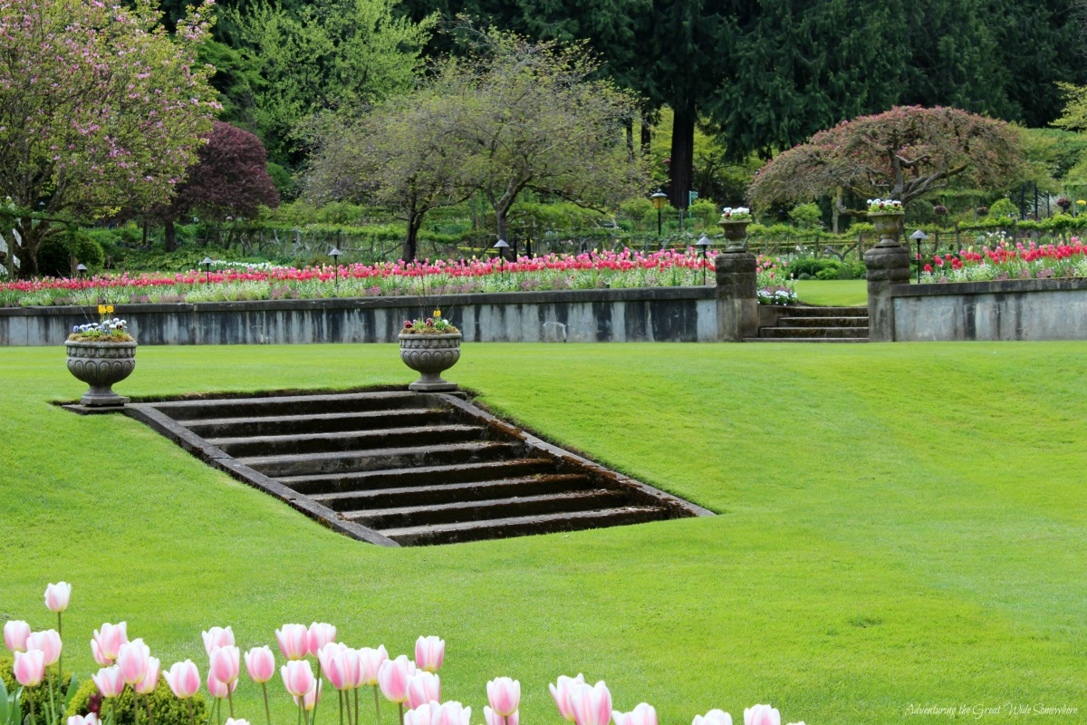 The Queen's Stairs to Nowhere, Butchart Gardens B.C.