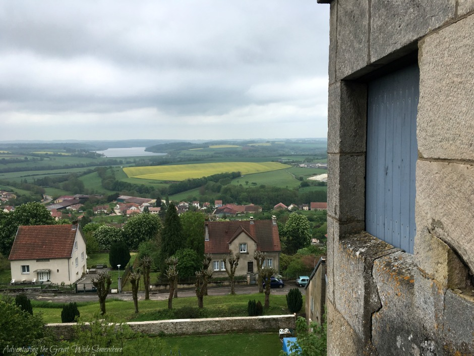 Looking Out Over the Stone Walls of Langres, France