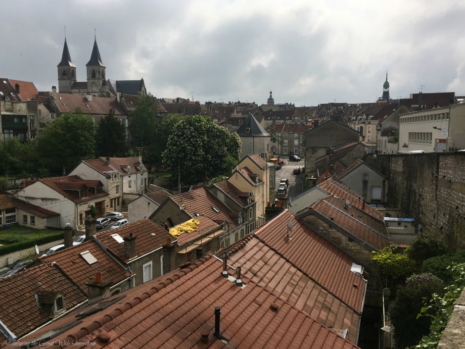 View Over Cobbled Homes into Chaumont's Downtown, or Centre-Ville