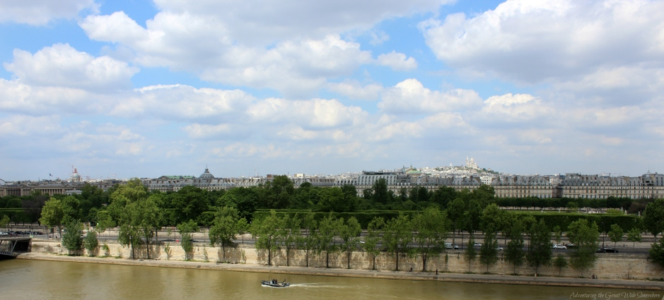 Views Over the Seine and the Whole of Paris From the Musee D'Orsay