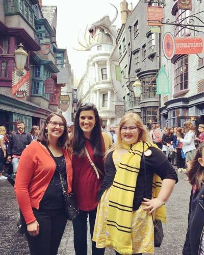 The girls at Diagon Alley, Universal Orlando Resort